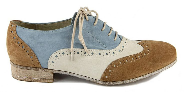 Elena Shoes Made In Italy - Spring Summer Collection - Collezione Primavera Estate - Scarpa con lacci - Laces Shoes - Light blue - Azzurro - Leather shoes - Scarpe in pelle - Fashion - Glamour - SS14 - PE14