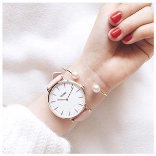 Cluse   La Boheme Rose Gold White/Pink