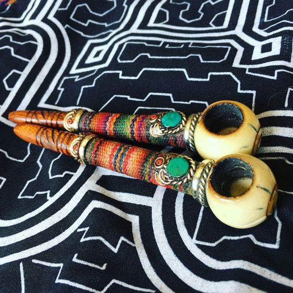 Kali Peace Pipe wrapped in peruvian textike by BlackSheepMovement