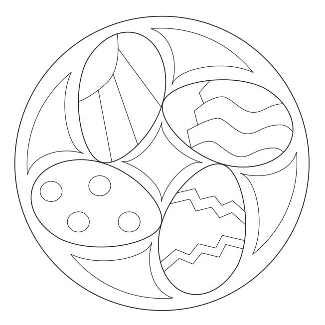 Osterei-Mandala 2