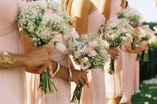 Bouquets w/ baby's breath