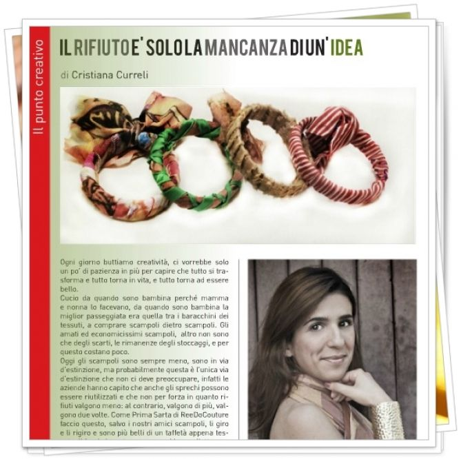 """From June 2012 Reedo Hub work on for the preparation of the newsletter and the official magazine of Ecoarea Better Living with so many content about the world of sustainability and a special issue by Cristiana Curreli about fashion reuse. ECOAREA Better living want to create a trading platform and information that would bring the world of business environment. The Green Economy, the economy """"green"""", is in fact, on the one hand the means by which face the great challenge of climate change and…"""