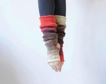 Calentadores de la pierna del yoga, hasta la rodilla Yoga calcetines, calcetines Piyo, danza calcetines, calcetines Toeless, Pilates calcetines, calcetines de pedicura, regalo Yoga, Yoga desgaste