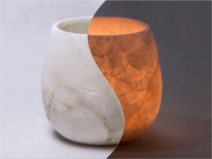 Egyptian Alabaster tealight holder @ Mishkat Home