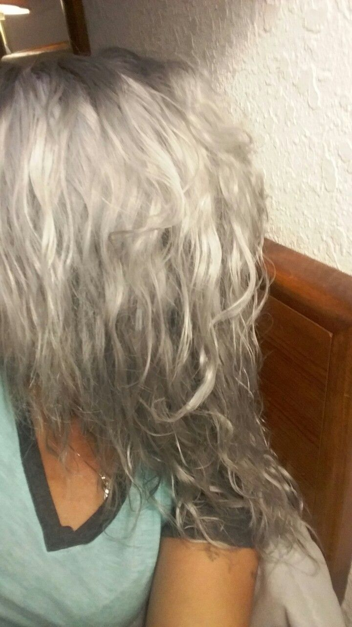 Chrome hair color from sallys with ion 2o% sensitive