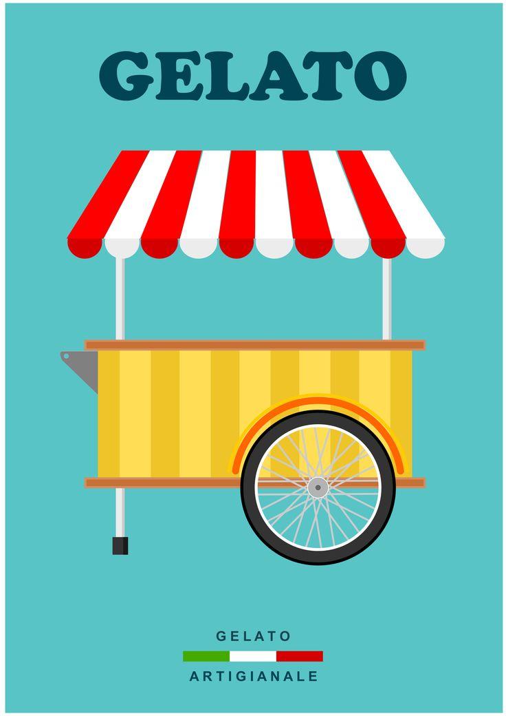 CARRETTO DEI GELATI by @dordy, Carretto dei gelati.Ice cream cart., on @openclipart