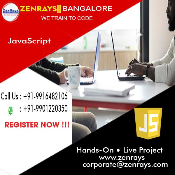 Best JavaScript Training in Bangalore. Call +91 9916482106, WhatsApp +91 9901220350, Write to corporate@zenrays.com.   Check out course contents at http://zenrays.com/oops-javascript-training