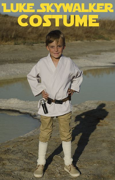 Halloween DIY Luke Skywalker from Star Wars costume for kids
