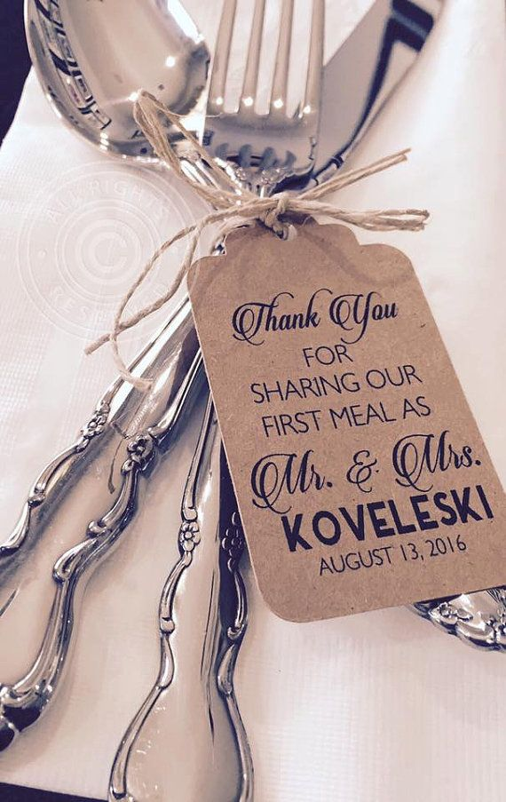 Silverware Tags Mr & Mrs Thank You Tags Table by NeesesCreations