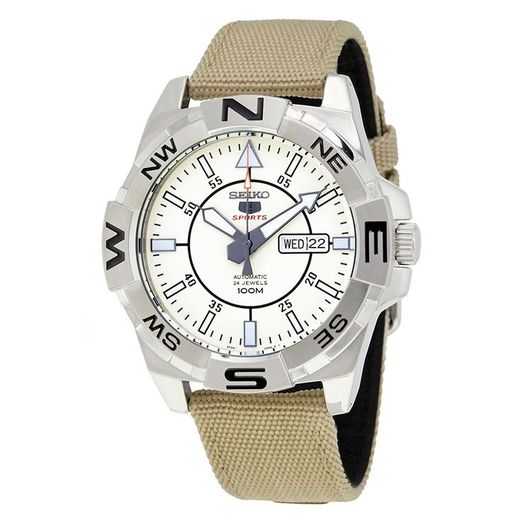 Seiko 5 Automatic Beige Dial Men's Watch SRPA67 - Seiko 5 - Seiko - Watches - Jomashop
