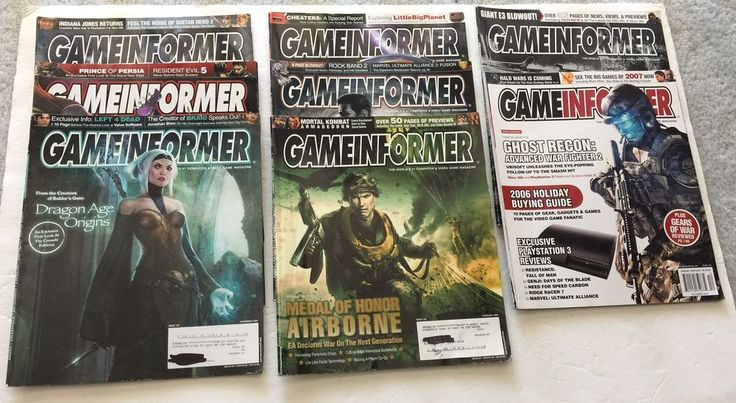Lot Of 8 Game Informer Magazines Wolfenstein Assasins Creed Dragon Age Star Trek  | eBay