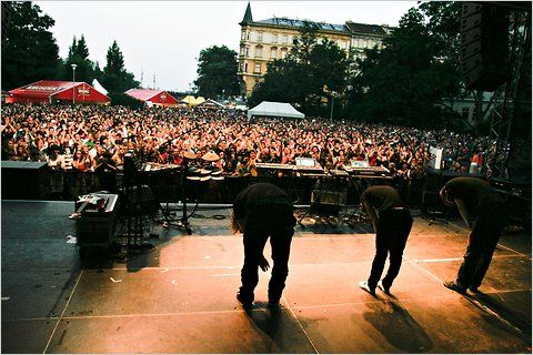 United Islands music festival, Concerts and beer stands take over the Vltava riverfront; performers include musicians local and global, and names as big as Iggy Pop and Placebo.