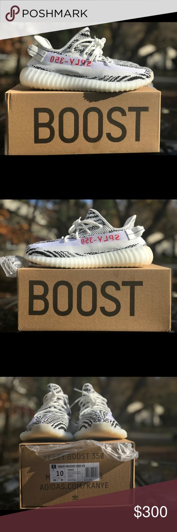 Adidas Yeezy Boost 350 V2 Zebra U.S. Men's Size 10 Like new condition. Comes with box. Only worn outdoors a couple times.   They were a Gift from an ex, so I no longer want them around.   Really comfortable.   U.S. size 10.   This size and colorway are $800 on the Stadium Goods website. 💡   This is a great price for a great fashionable shoe. Don't miss out.  Pictures were taken outdoors on 11.16.17 with an iPhone 7Plus in portrait mode.  Hit me up with any questions you might have. 🤙🏽…