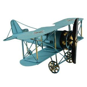 Amazon.com: New Blue 12'' Vintage German Fokker D.vii WWI Fighter Jet Aircarft Model Prop: Toys & Games