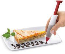 1 pcs Silicone Food Writing Pen Caneta de Chocolate Decoração Molde Do Bolo Fondant Ferramentas de Decoração Do Bolo de Creme(China (Mainland))