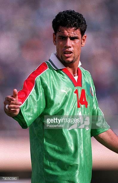 Football 2002 World Cup Qualifier African Second Round Group C 21st April 2001 Dakar Senegal Senegal 3 v Algeria 0 Algeria's Hocine Bouaicha
