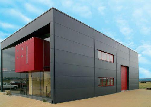 Façade sandwich panel (metal facing, polyurethane foam core) FISCHERTHERM LL 80 Fischer Profil GmbH