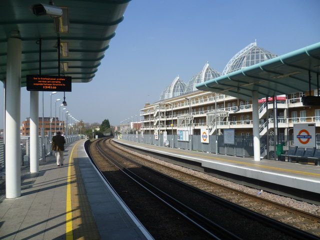 Imperial Wharf London Overground Station in London, Greater London