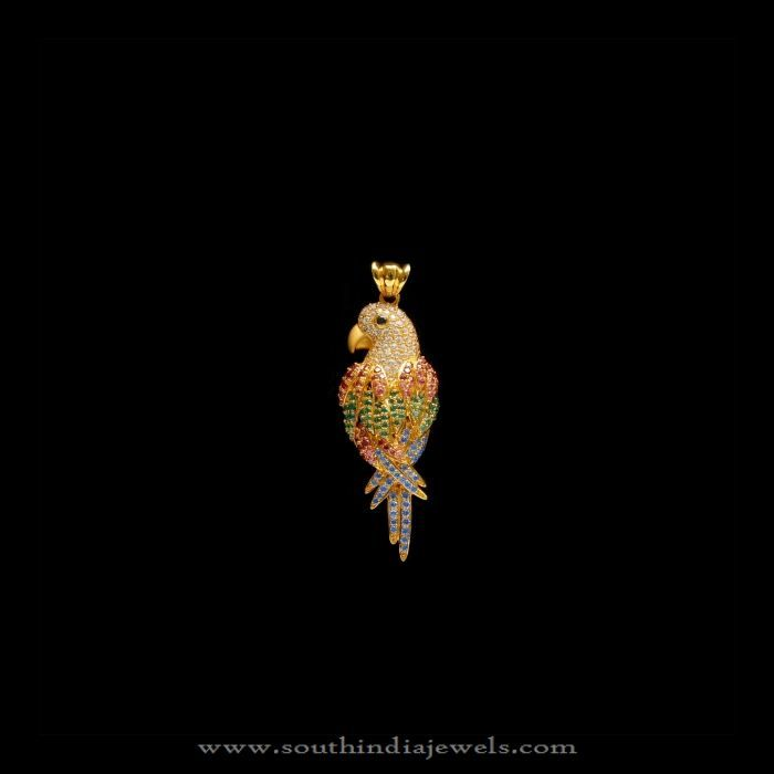 Gold Stone Pendant for Chains, Gold CZ Stone Chain Pendants, Small Gold Pendants for Chains.