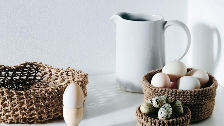 How to crochet string baskets