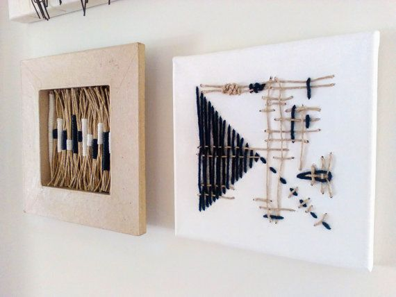 Framed Textile Art Framed Wall Hanging Textile by totalhandmadeD