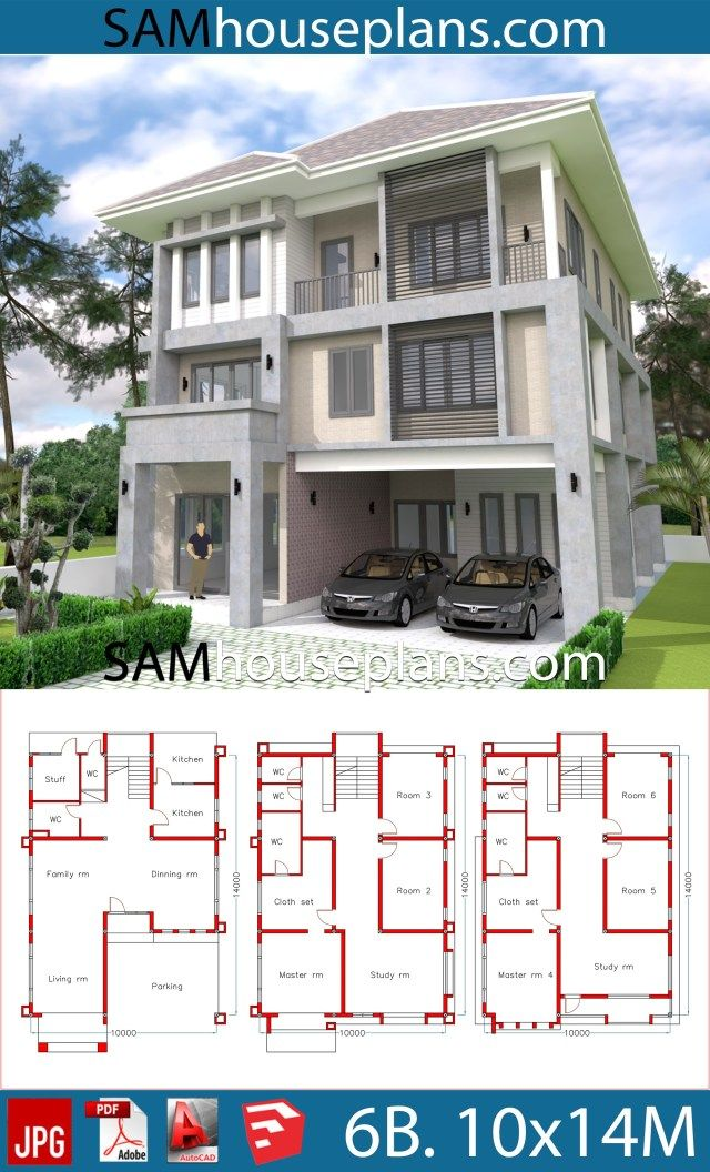 House Plans 10x14 With 6 Bedrooms Sam House Plans 6 Bedroom House Plans House Plans Modern House Plans