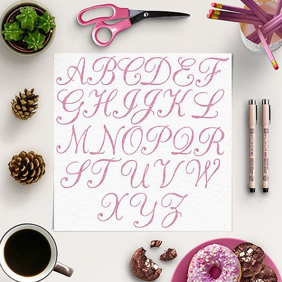 Glitter Alphabet Clip Art -  http://etsy.me/2cJM492 This listing is for 26 pieces of high quality pink glitter digital letters.