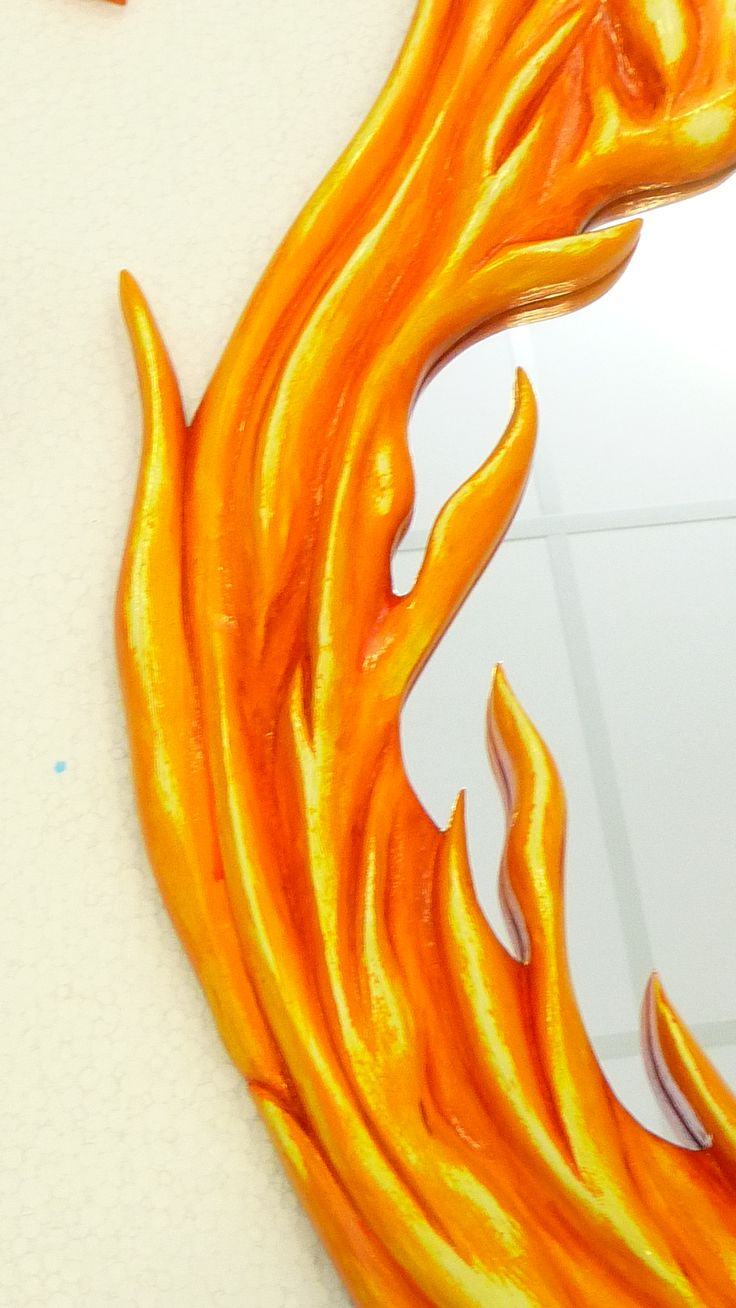 Clear Close up on the Flame Mirror project...