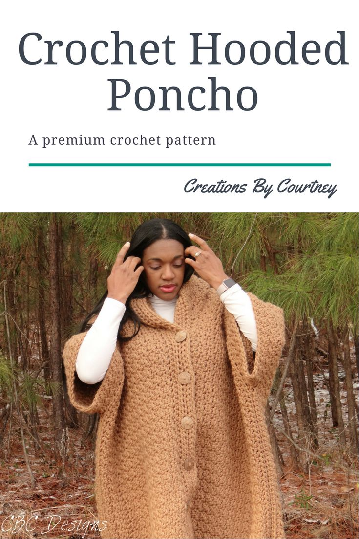 The Hooded Poncho crochet pattern works up quickly to create style and texture. Get started today on making your new favorite crochet piece.
