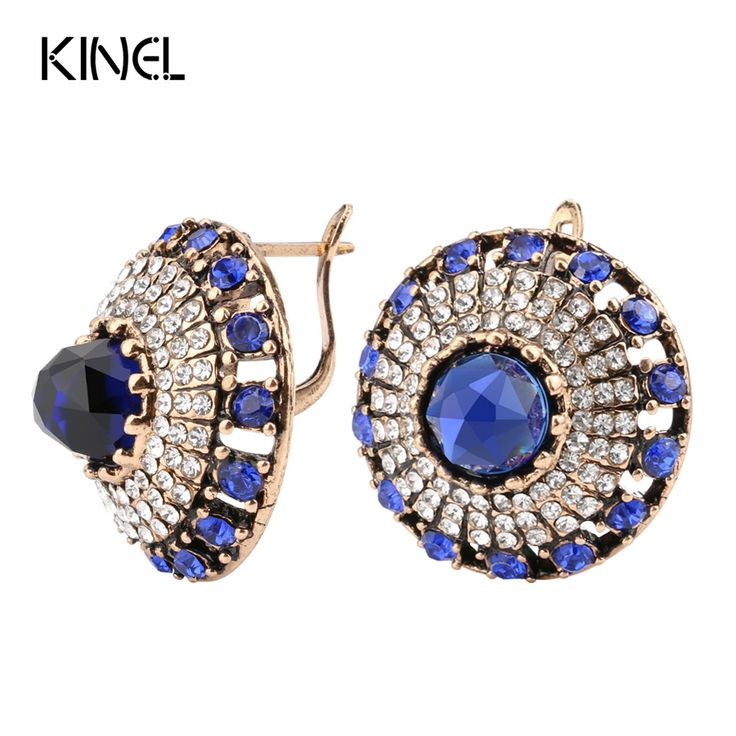 Aliexpress.com : Buy Hot 2017 Luxury Natural Stone Earring Vintage Crystal Antique Earrings For Women Gold Color Party Christmas Gift Turkish Jewelry from Reliable natural stone earrings suppliers on kinel Retro Jewelry store