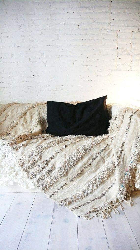 handira - vintage moroccan wedding blanket