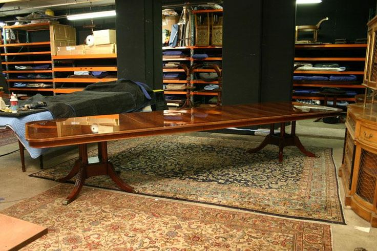 LH1 _ Extra large dining table, Long dining room table with leaves, American & High End Luxury