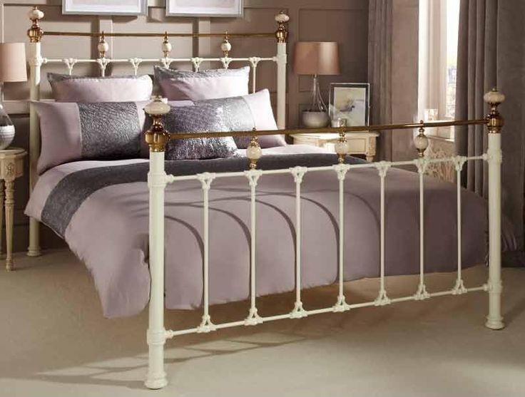 abigail classical metal bed frame