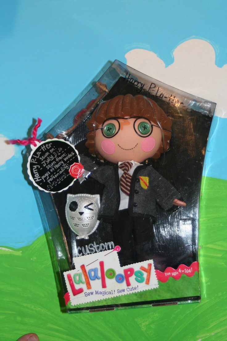 Custom OOAK Lalaloopsy Doll Pet Harry P-La-tter Potter Hedwig Brand New Reboxed. $75.00, via Etsy.