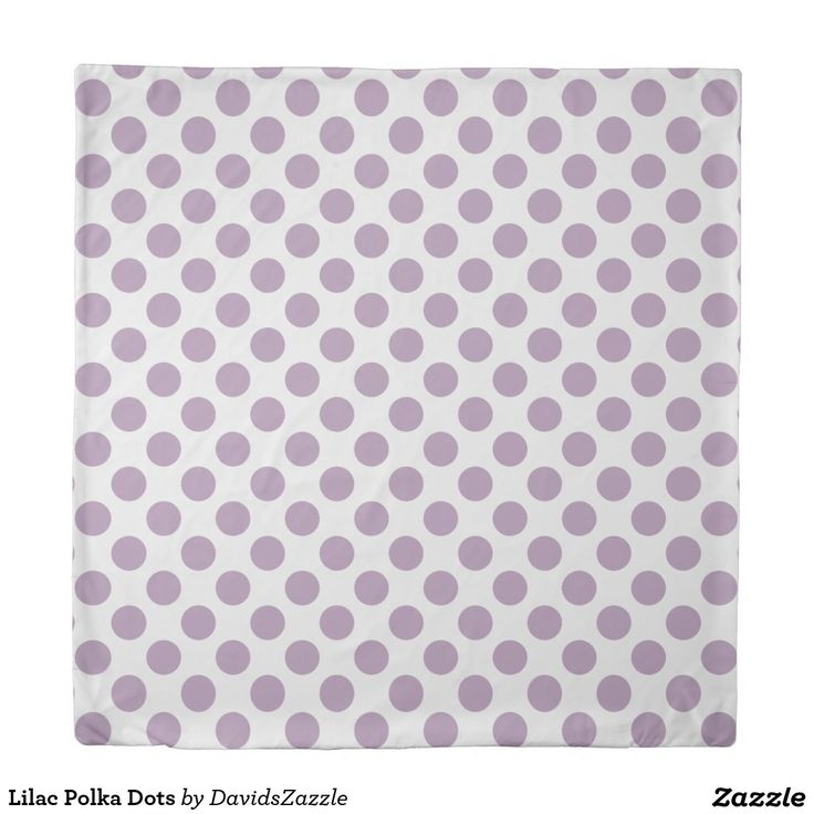 Lilac Polka Dots Duvet Cover