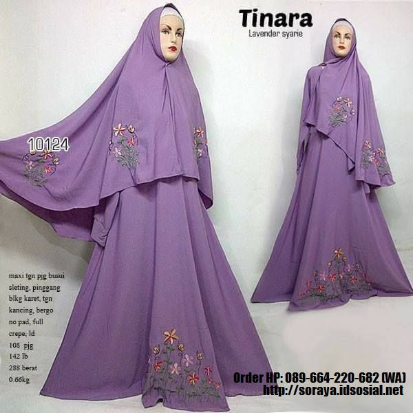 Contoh Gambar Jual Produk Baju Muslimah Tinara Lavender Syar`ie Full Crape