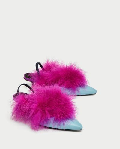 HIGH HEEL SLINGBACK SHOES WITH FEATHER DETAIL-View All-SHOES-WOMAN-SALE | ZARA United States