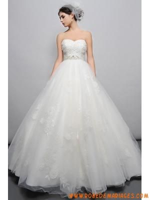 Robe de mariée princesse 2013 tulle col coeur