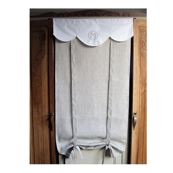 1000+ images about Tie Up Curtains on Pinterest  French linens, Burlap kitchen curtains and