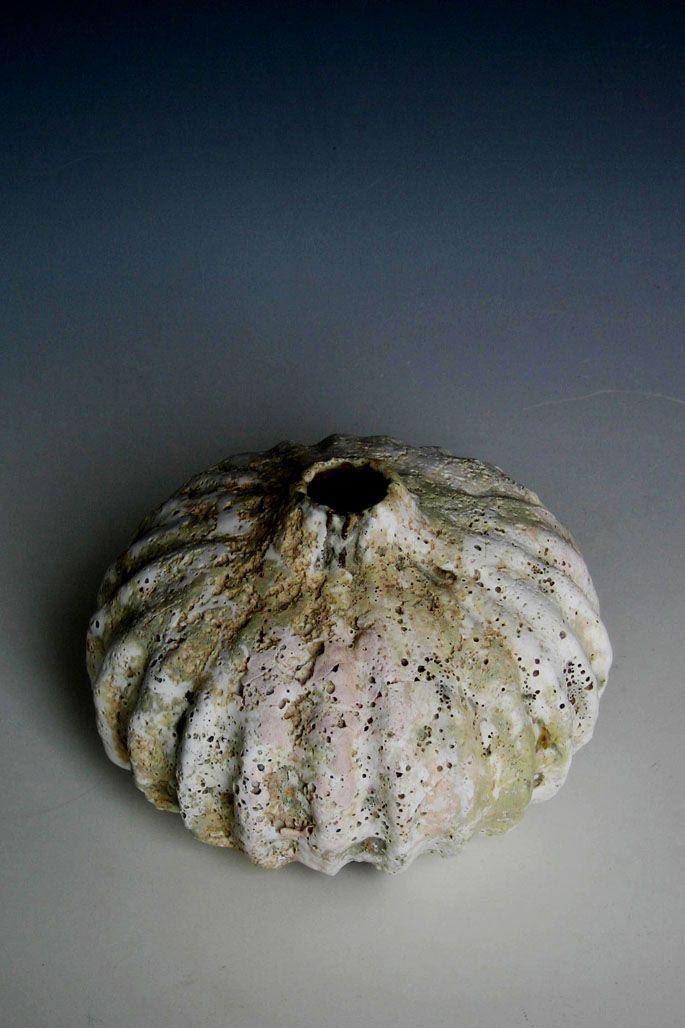 Aki Moriuchi Glazed Ceramic Stone Seed Flat Vessel