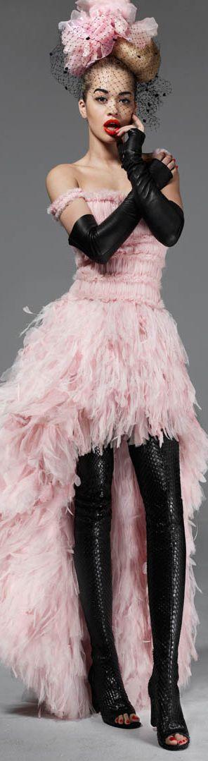 Chanel | Haute Couture F/W 2013,  Rita Ora, Elle Magazine