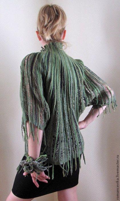"""Пиджаки, жакеты ручной работы. Ярмарка Мастеров - ручная работа Жакет """"Таинственные джунгли"""". Handmade."""