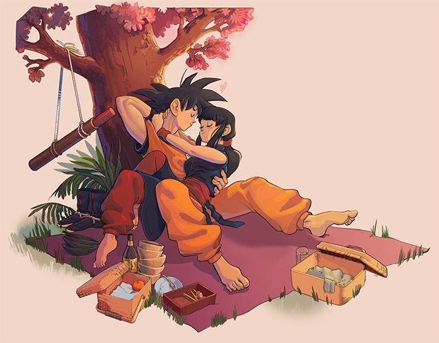 Chichi and Goku