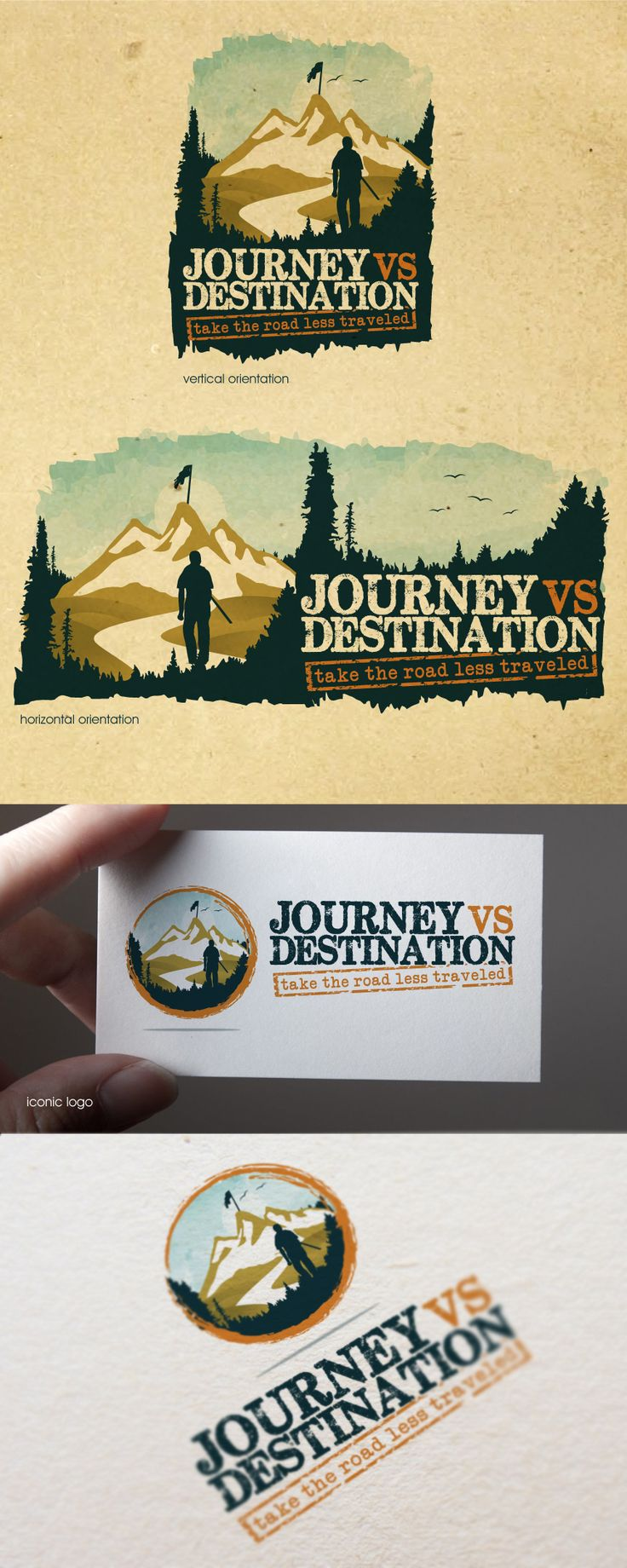 Make a difference! Create the next AWESOME logo for JourneyvsDestination.com! Logo design #127 by lynzee.artajo
