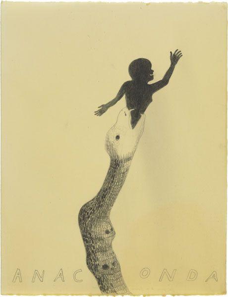 Anaconda | 2010 | Graphite on paper, waxed | 66 × 51 cm