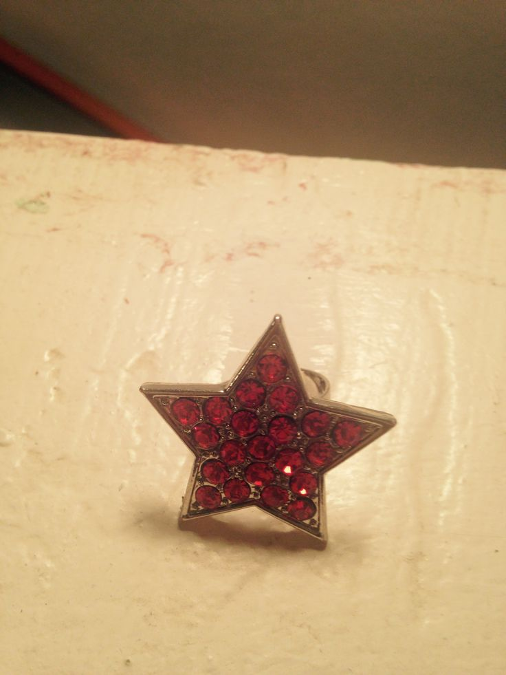 Bought this ruby rhinestone star ring from the Pink Closet. $1.00