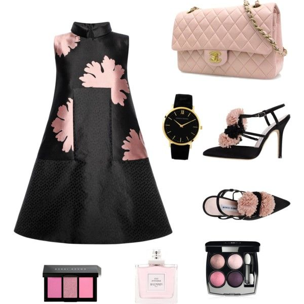 Rose by muslimco on Polyvore featuring polyvore, mode, style, Alexander McQueen, Manolo Blahnik, Chanel, Larsson & Jennings, Bobbi Brown Cosmetics and Balmain