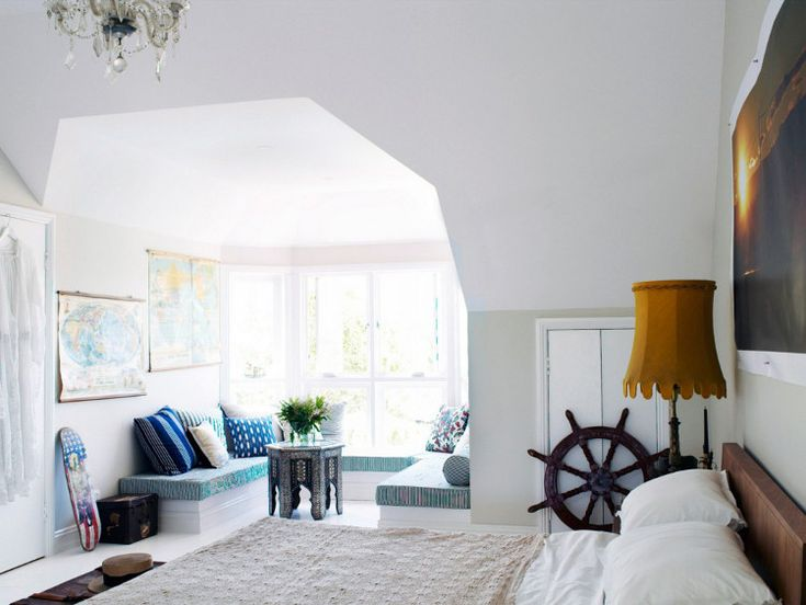 perfect off-bedroom nookDecor Ideas, Windows Benches, Interiors Design, Master Bedrooms, Dreamy Bedrooms, House Furnishingarchitectur, Bedrooms Nooks, Dreams House 9, White Wall