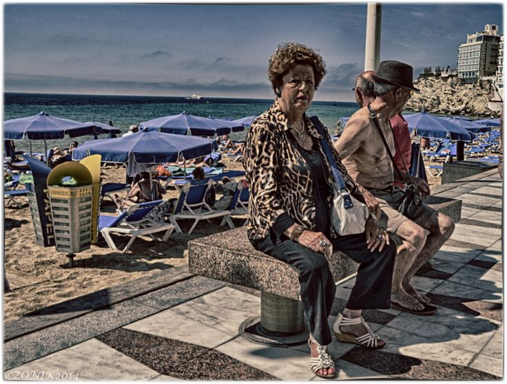 Disappointed woman, Benidorm 2014