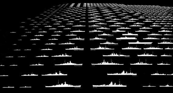 Battleships Black Edition by JeffreyLouisReed on Etsy, £65.00